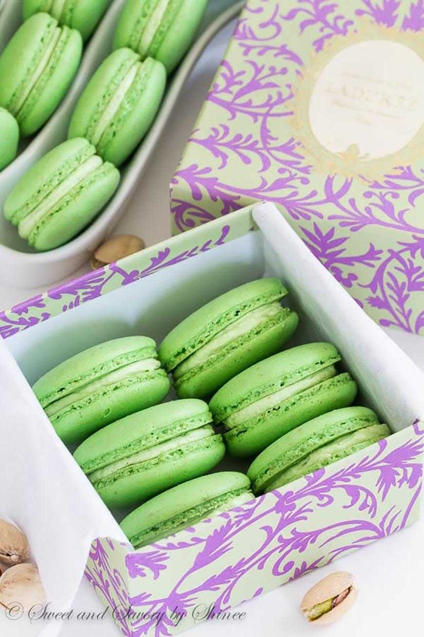 Wedding Ideas By Colour: Pistachio Green Wedding Theme - Macaron favours |  CHWV
