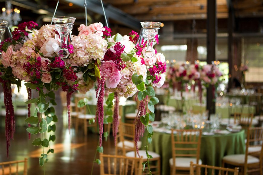Wedding Ideas By Colour: Pistachio Green Wedding Theme - Flowers in vases | CHWV