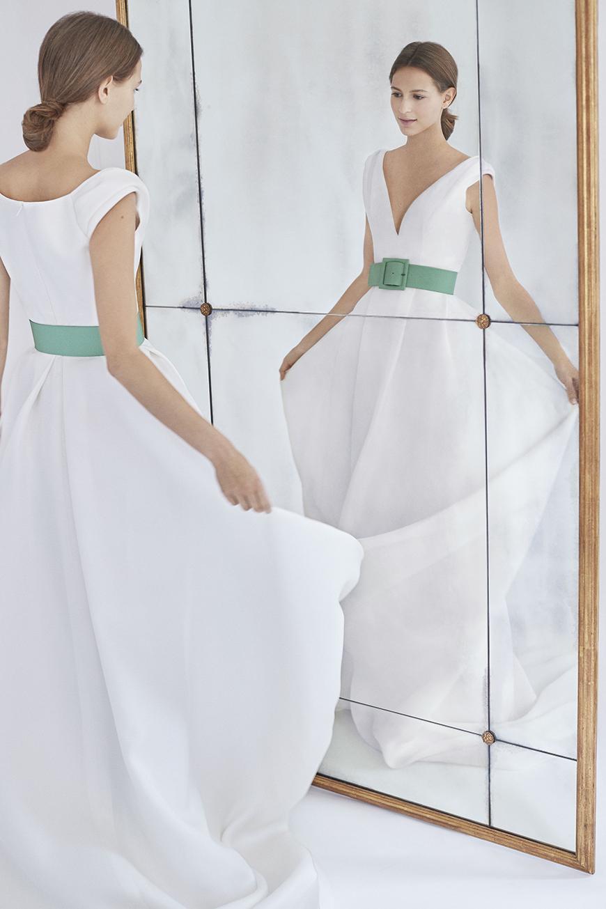 Wedding Ideas By Colour: Pistachio Green Wedding Theme - Bridal dress | CHWV