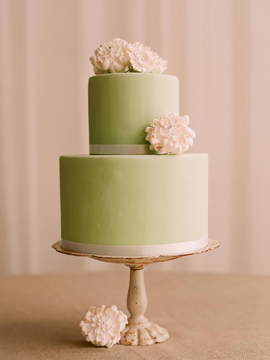Wedding Ideas By Colour: Pistachio Green Wedding Theme - Wedding cake |  CHWV