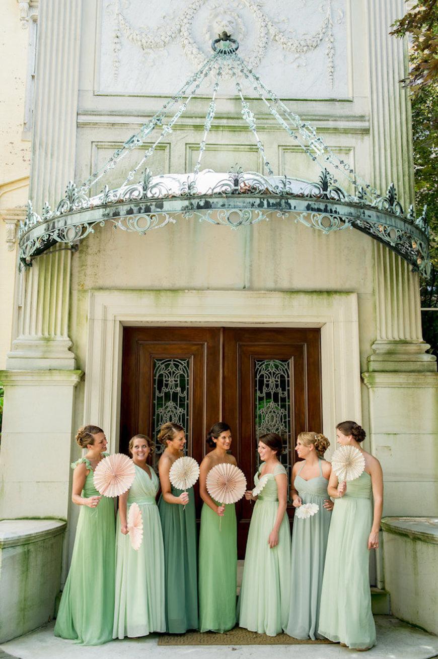 Wedding Ideas By Colour: Pistachio Green Wedding Theme - Bridesmaids dresses | CHWV