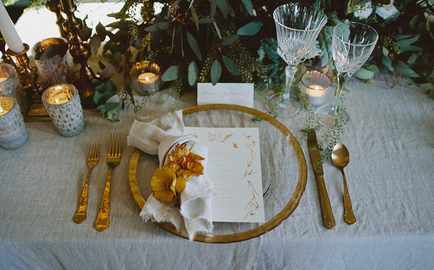 A Stunning Styled Shoot At Davenport House - Place setting | CHWV