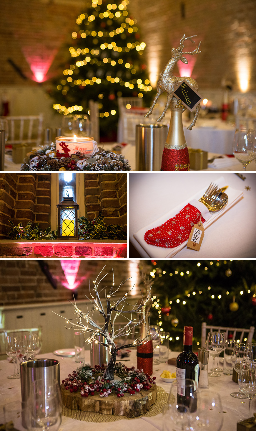 Real Wedding - Rebecca and James' Festive Winter Wedding at Manor Mews | CHWV