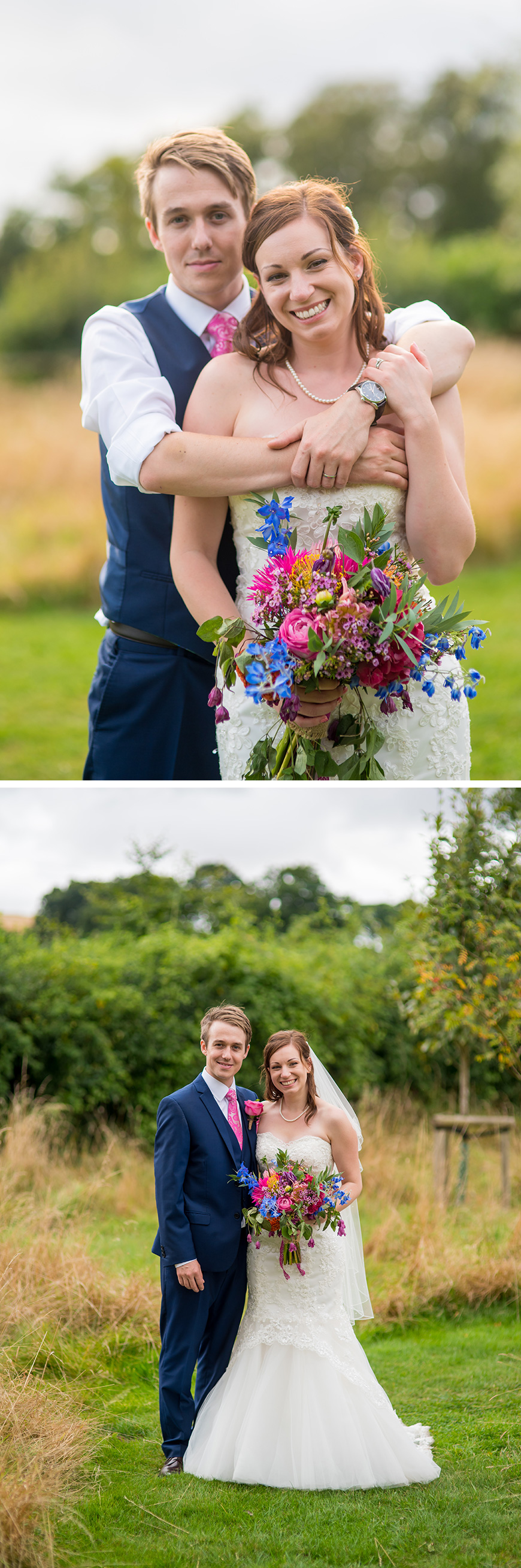 Real Wedding - Rebecca and Michael's Romantic Summer Wedding at Clock Barn | CHWV