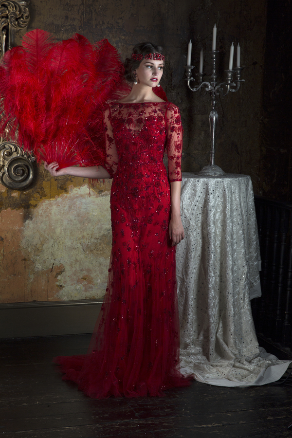 Wedding Ideas by Colour: Red Wedding Dresses - The winter gown | CHWV