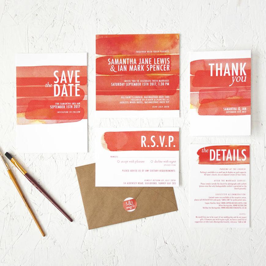 Wedding Ideas By Colour: Red Wedding Invitations | CHWV