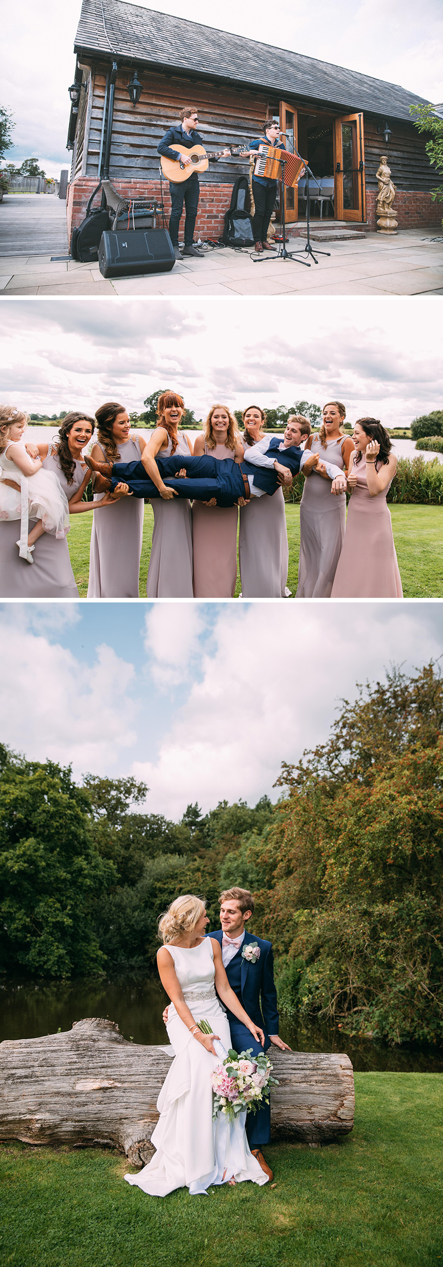 Real Wedding - Summer Pinks at Sandhole Oak Barn | CHWV