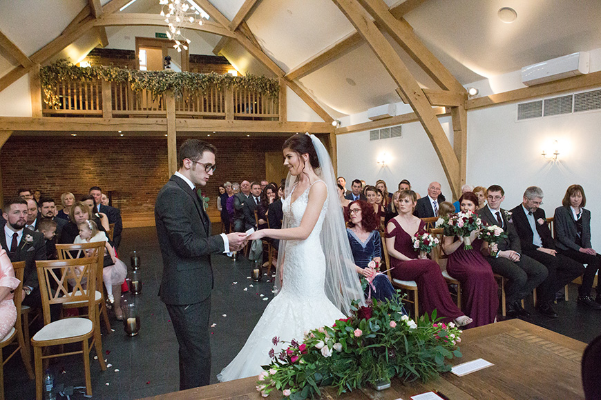 Real Wedding - Rose and Daniel's Glamorous Winter Wedding At Mythe Barn | CHWV