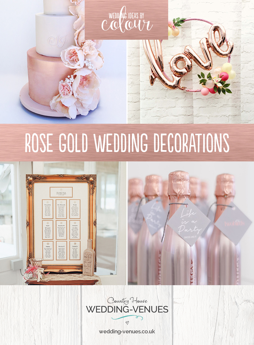 Wedding Ideas By Colour: Rose Gold Wedding Decorations | CHWV