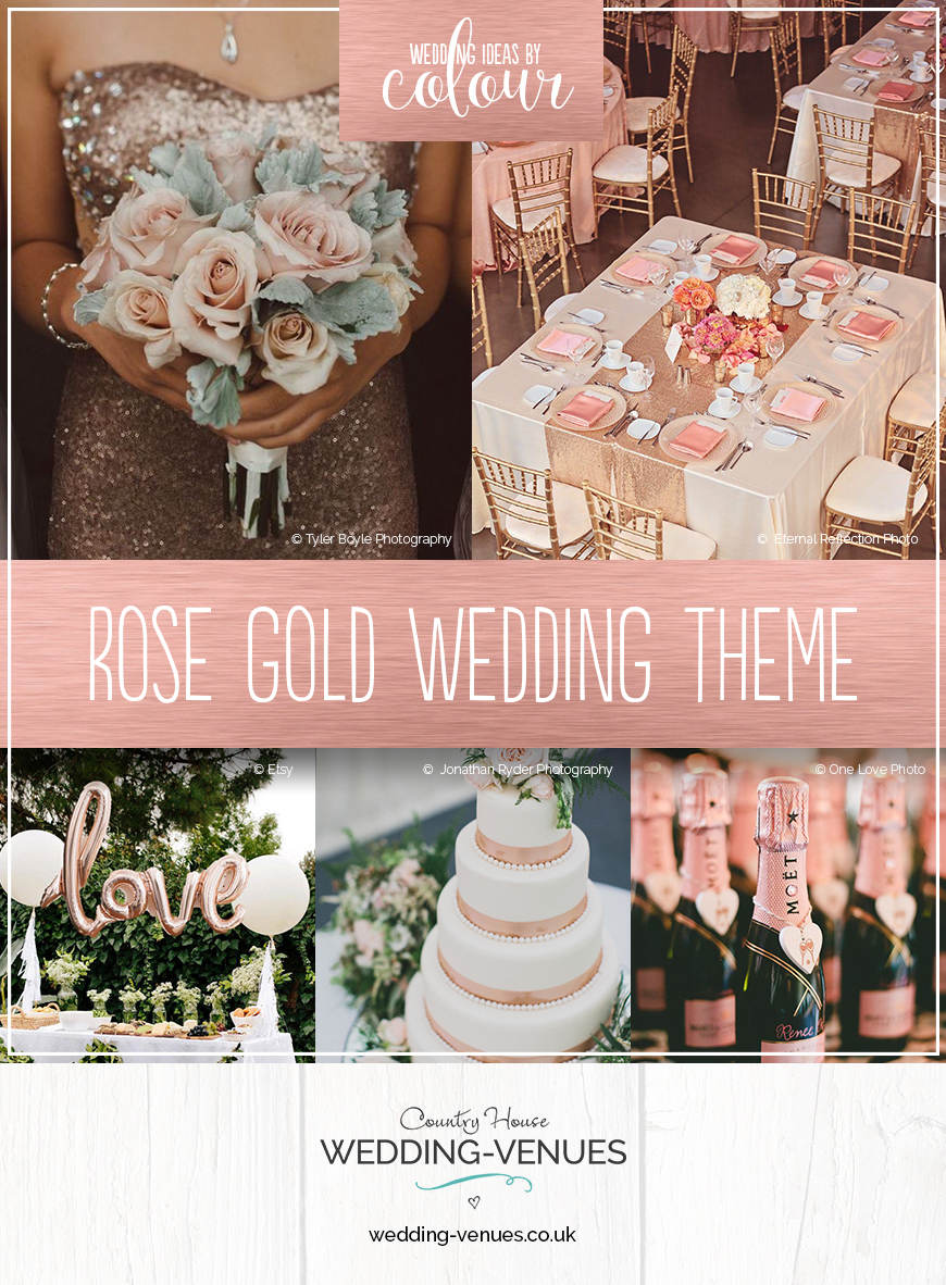 Rose Gold Wedding Theme | Wedding Ideas By Colour | CHWV