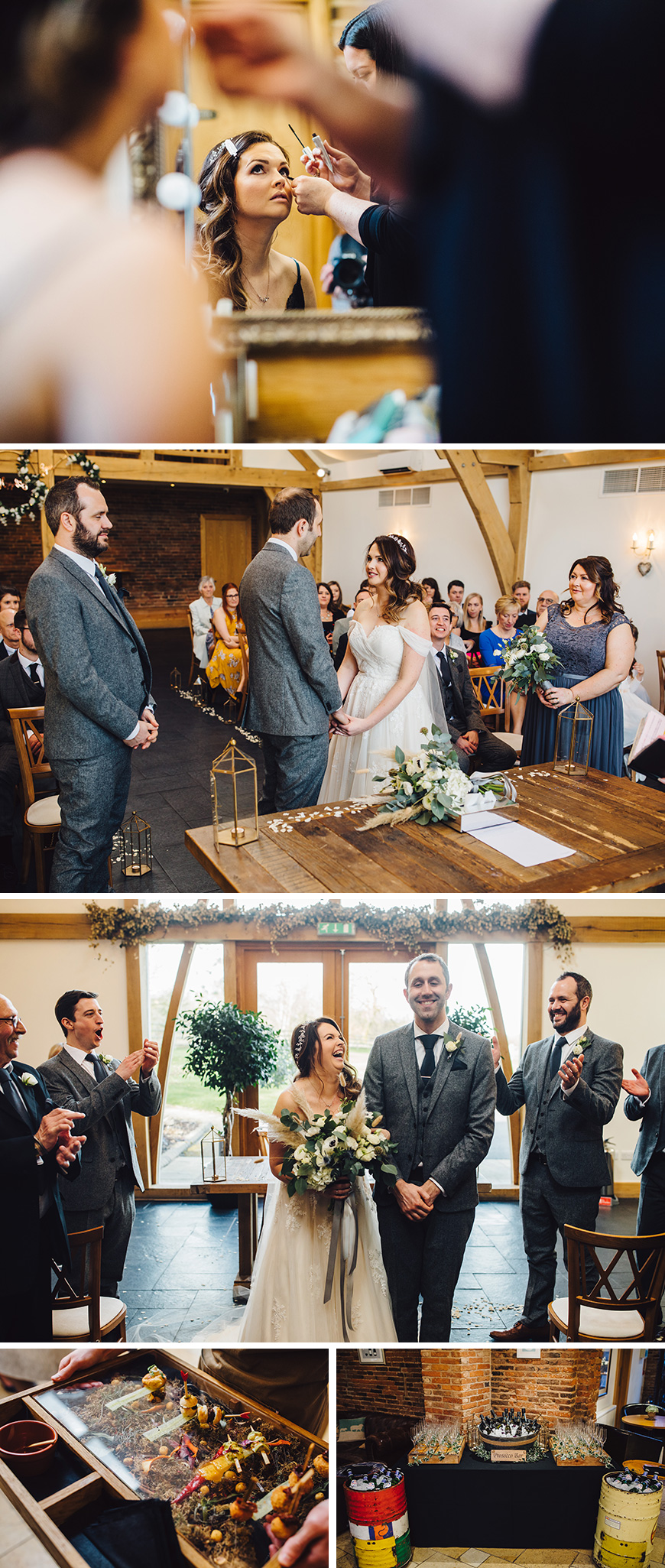 Real Wedding - Rosheen and Ben's Beautiful Spring Wedding At Mythe Barn | CHWV