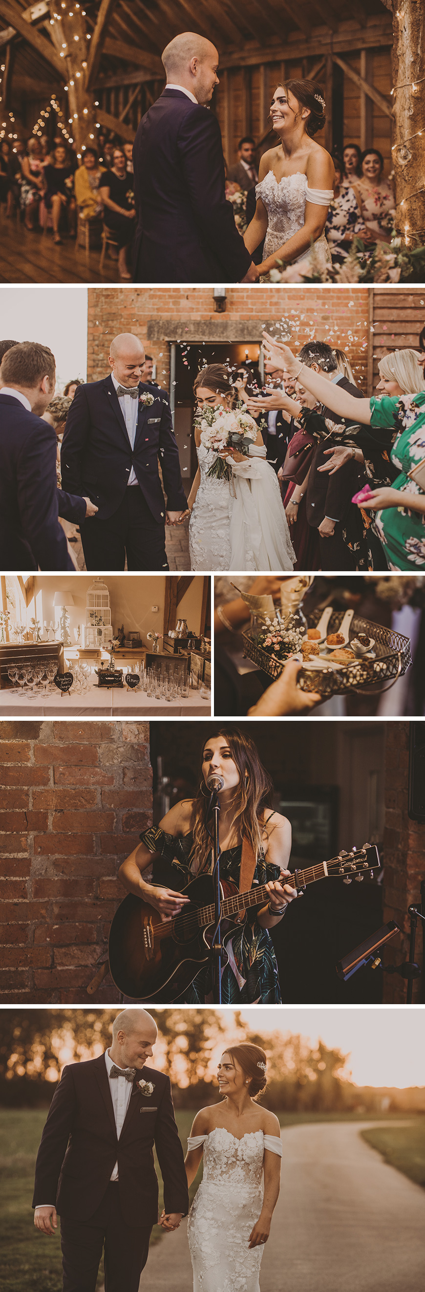 Real Wedding - Sarah and Jonathan's Rustic Autumn Wedding at Bassmead Manor Barns | CHWV