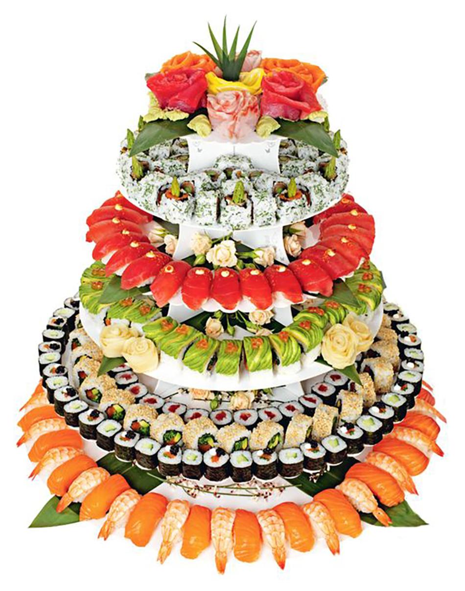 Alternative savoury wedding cakes chwv for Wedding canape alternatives