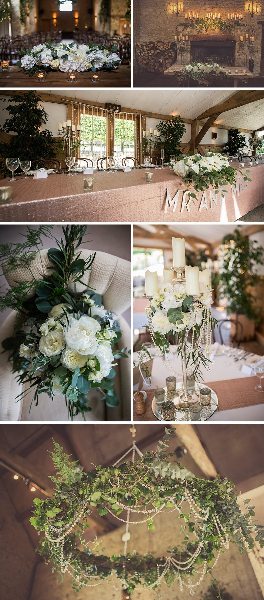 Real Wedding - Sky and Lee's Vintage Wedding At Cripps Barn - Decorations | CHWV