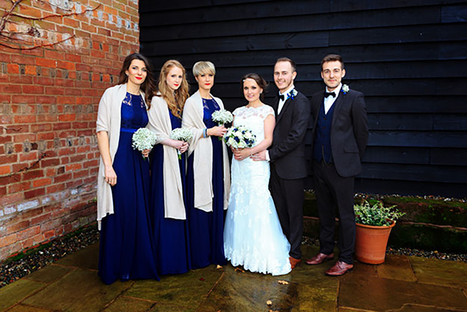 Sophie and James real life wedding at Curradine Barns - Bridal party | CHWV