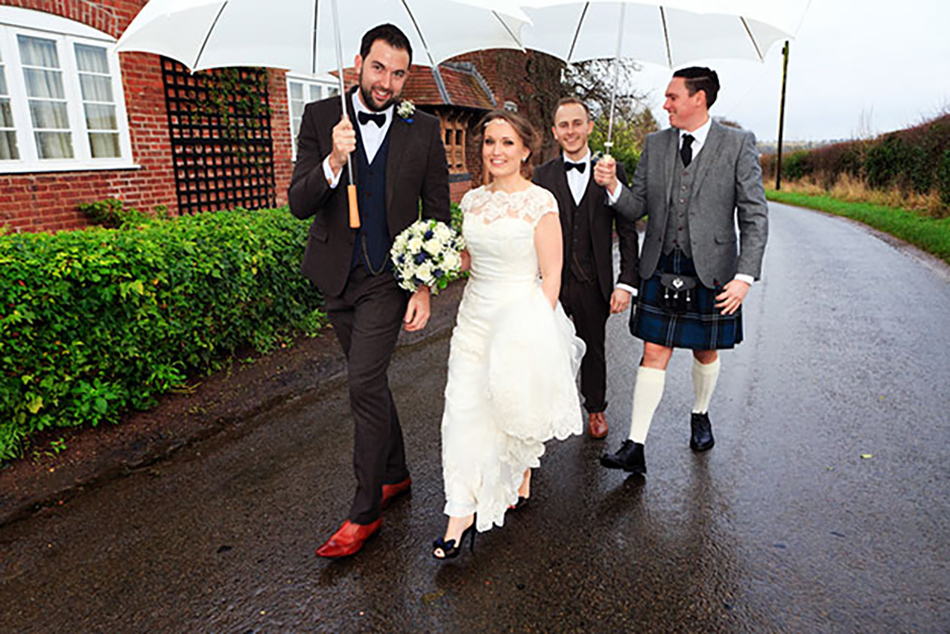 Sophie and James real life wedding at Curradine Barns - Walking   CHWV