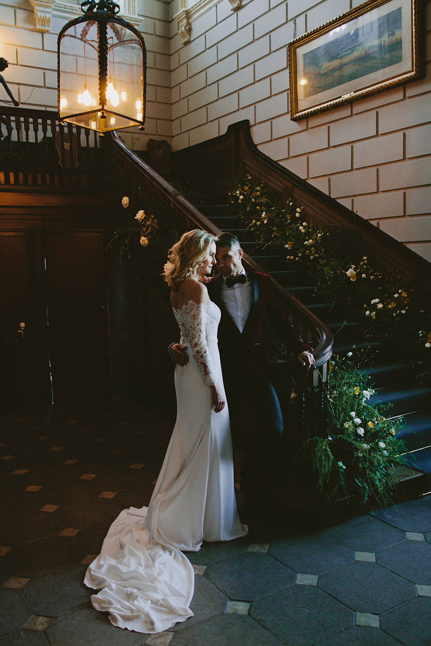 A Stunning Styled Shoot At Davenport House - Staircase | CHWV