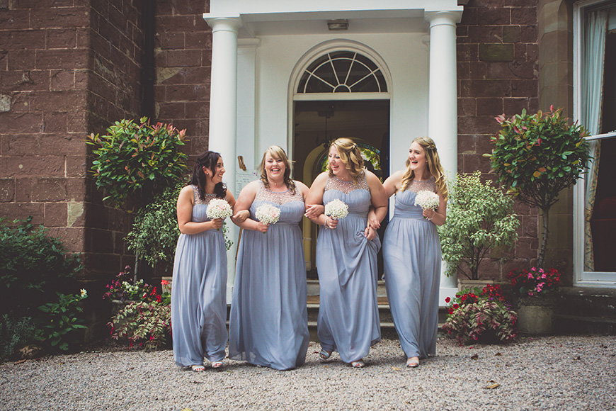 Steph and Daniel at Parkfields Country House the bridesmaids | CHWV