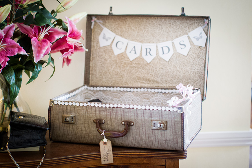 Steph and Daniel at Parkfields Country House card box | CHWV