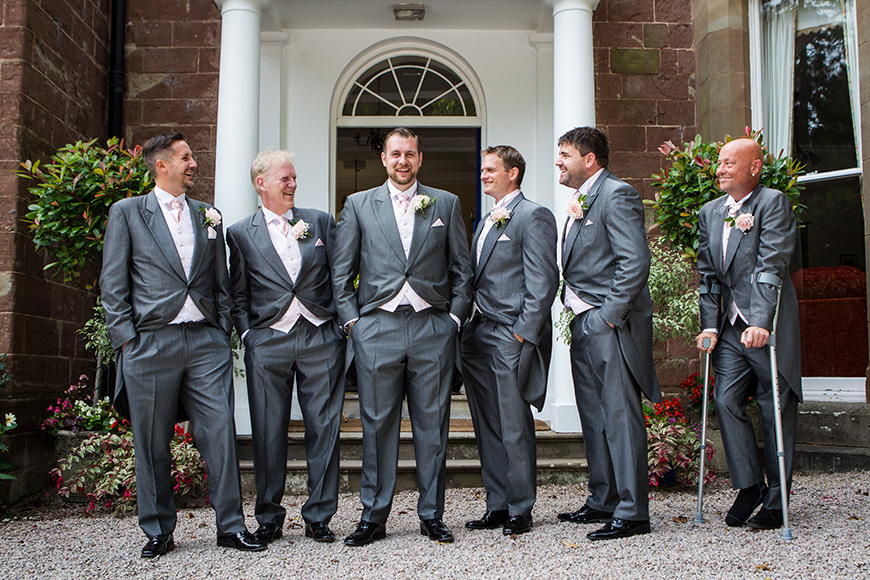 Steph and Daniel at Parkfields Country House the groomsmen | CHWV