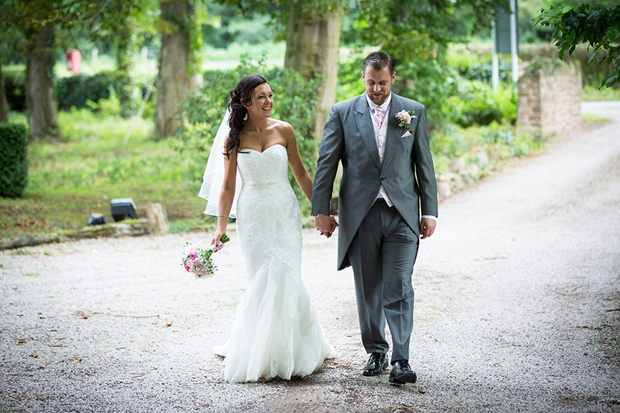 Steph and Daniel at Parkfields Country House hand in hand | CHWV