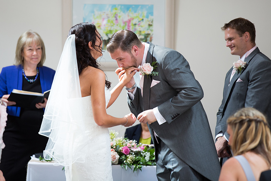 Steph and Daniel at Parkfields Country House putting on the ring | CHWV