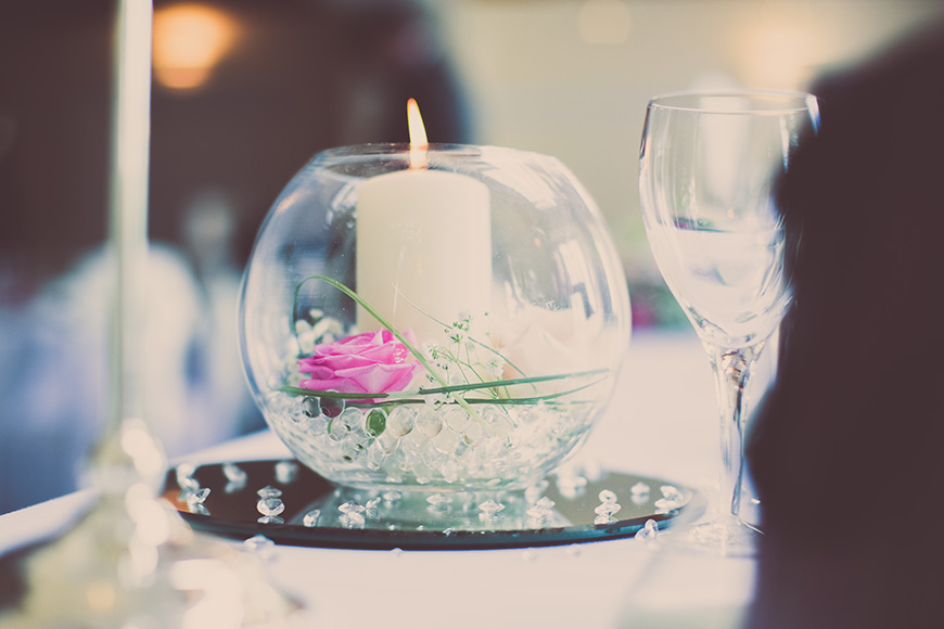 Steph and Daniel at Parkfields Country House table centrepiece | CHWV
