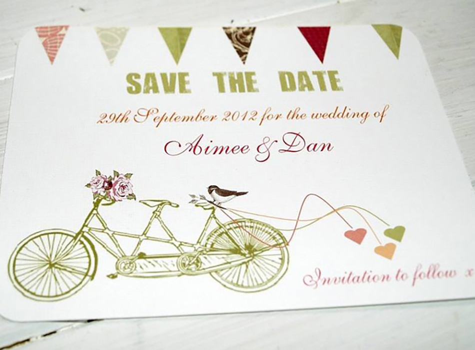 Style an Outdoor wedding - Bicycle for two wedding invite | CHWV