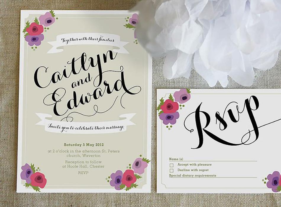 Style an Outdoor wedding - Sophia wedding invite | CHWV