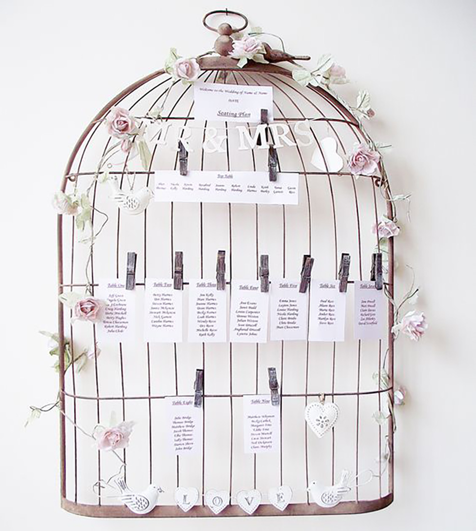 Style an Outdoor wedding - Birdcage table plan holder | CHWV