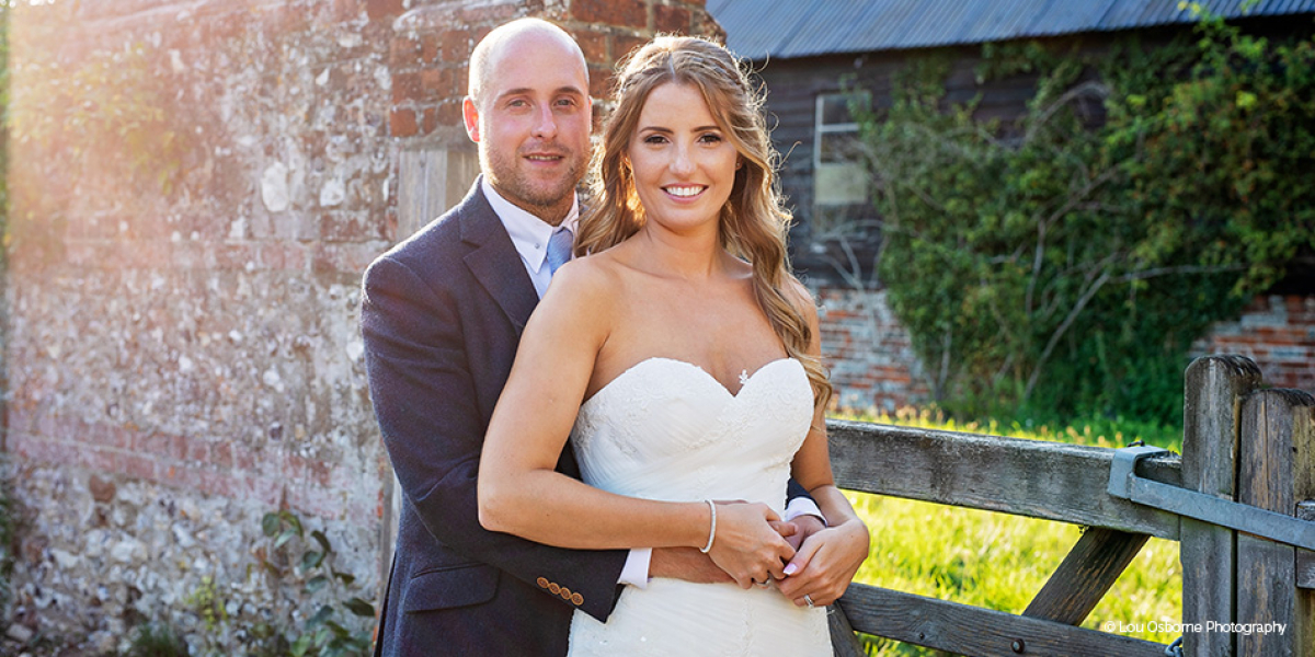 Real Wedding - Alice and Jon's Personal Summer Wedding At Clock Barn | CHWV