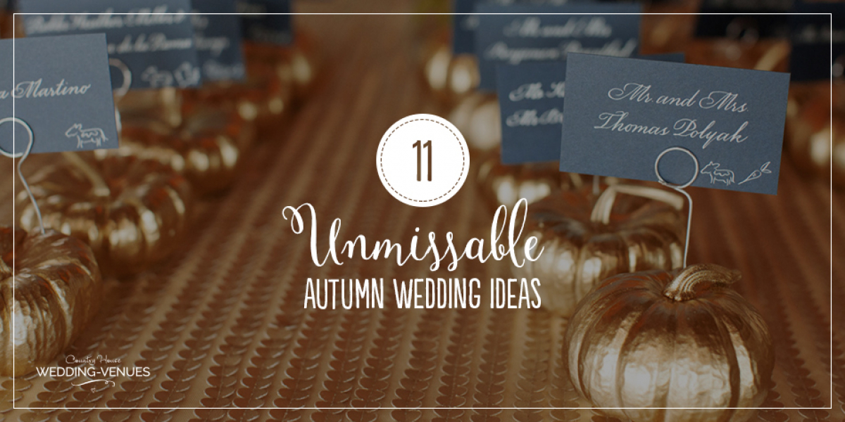 11 Unmissable Autumn Wedding Ideas | CHWV