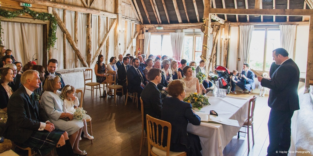 Clock Barn wedding venue in Hampshire - Late availability | CHWV