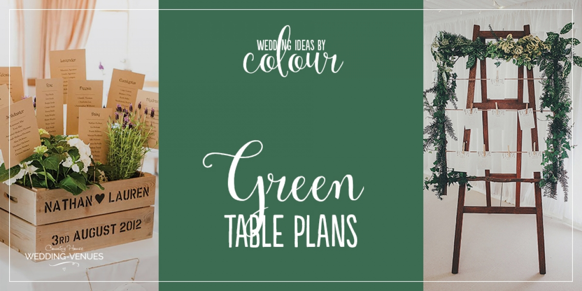 Wedding Ideas by Colour: Green Table Plans | CHWV