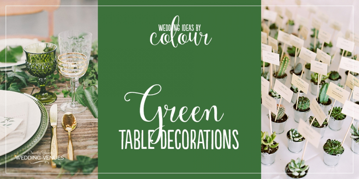 Wedding Ideas By Colour: Green Wedding Table Decorations | CHWV