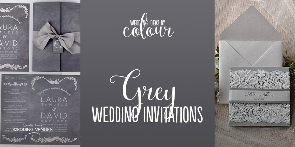 Wedding Ideas By Colour: Grey Wedding Invitations | CHWV