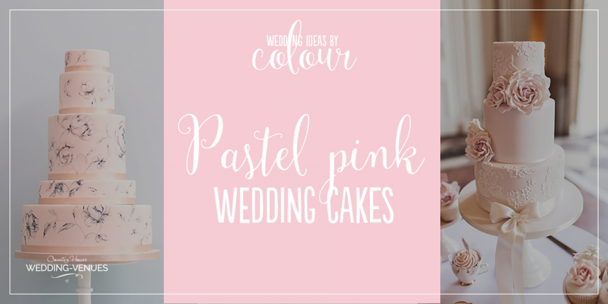 Wedding ideas by colour: pastel pink wedding cakes | CHWV