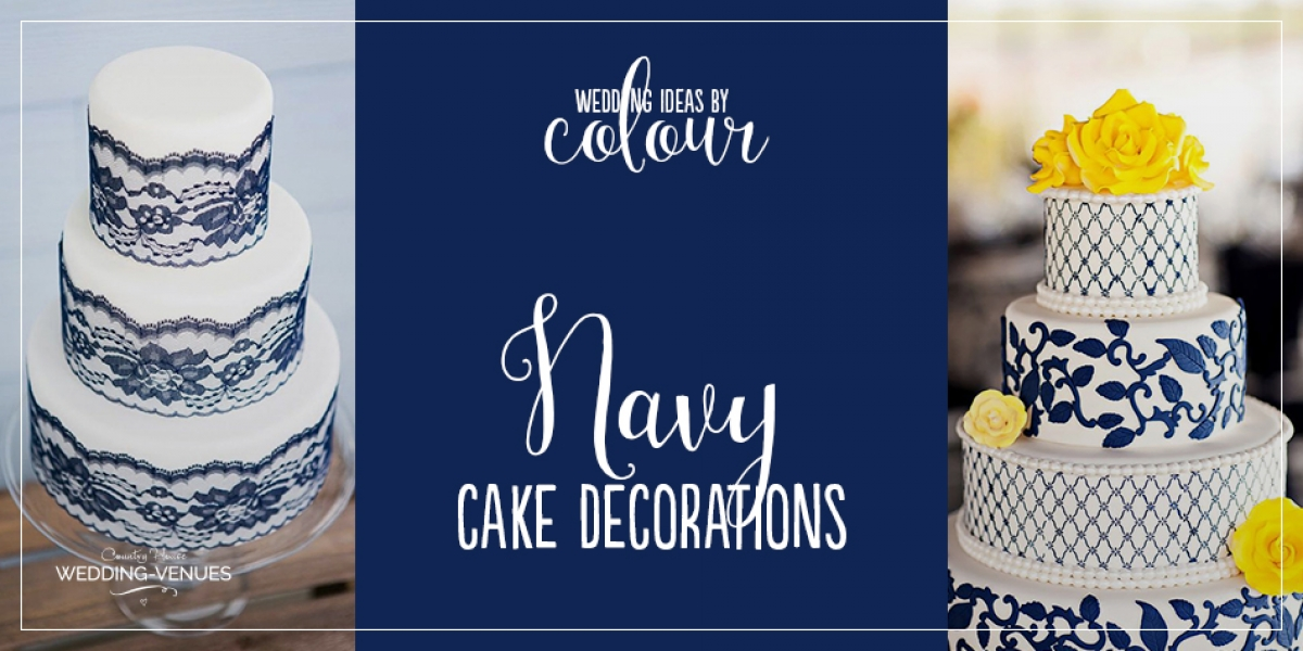 Navy Wedding Cake Decorations | CHWV