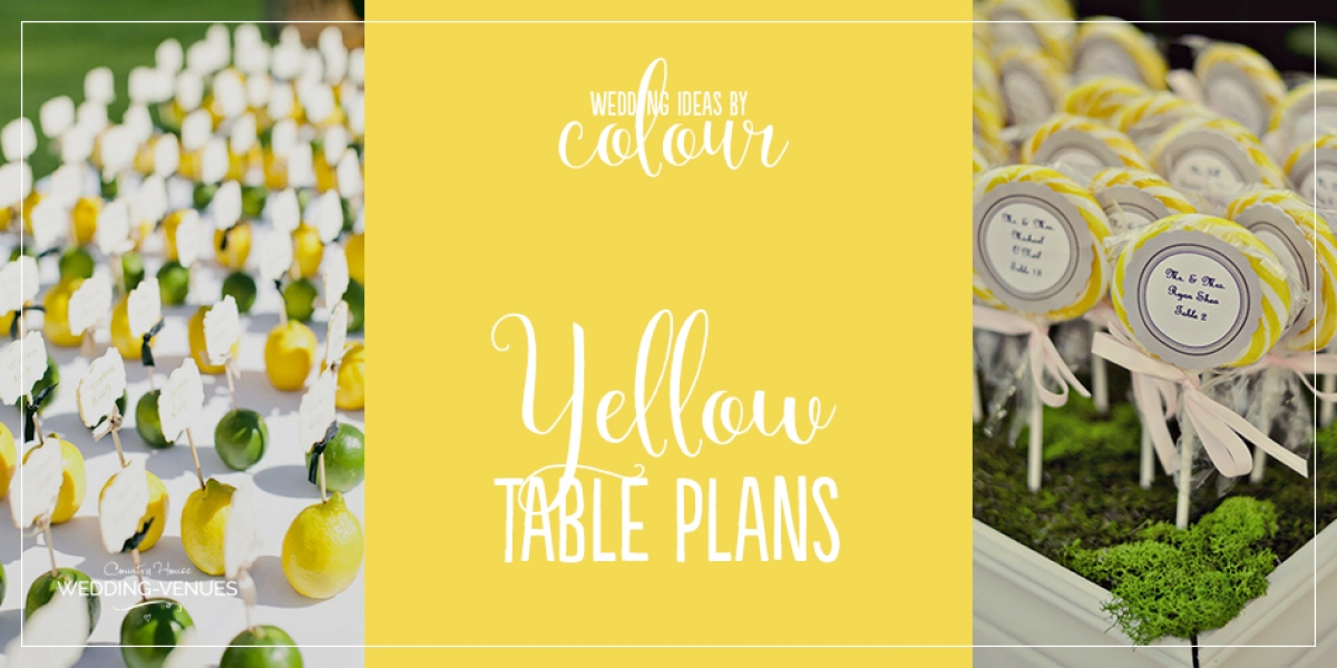 Wedding Ideas By Colour: Yellow Wedding Table Plans | CHWV