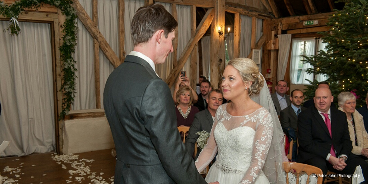 A Subtle Winter Wedding at Clock Barn for Emma and Shane | CHWV