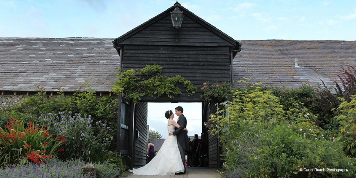 Gemma and Jamie's real life wedding at Upwaltham Barns | CHWV