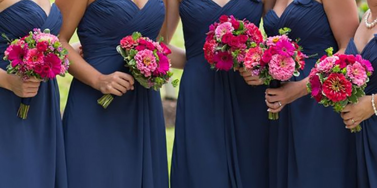 Wedding ideas by colour: Navy blue bridesmaid dresses | CHWV