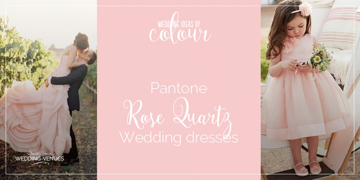 Pantone rose quartz wedding dress ideas | CHWV