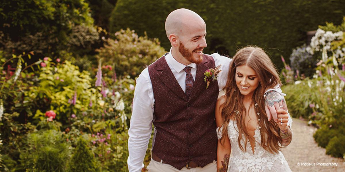 Real Woodland Weddings: Hannah & Tommy's Summer Woodland Wedding At Gaynes Park