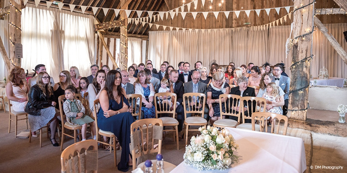 sam and jamie�s wonderful wedding at clock barn country