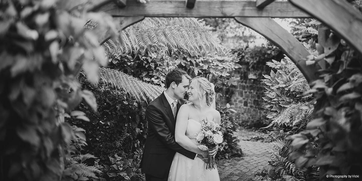 Just married at Bartholomew Barn in West Sussex