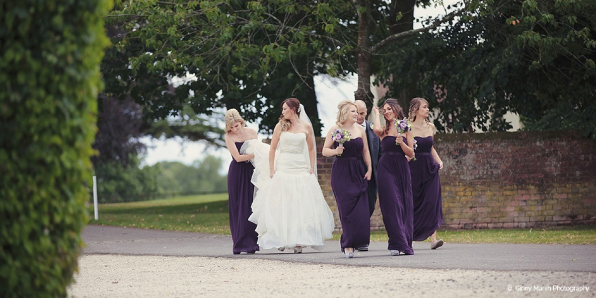 A Purple Summer Wedding At Wasing Park | CHWV
