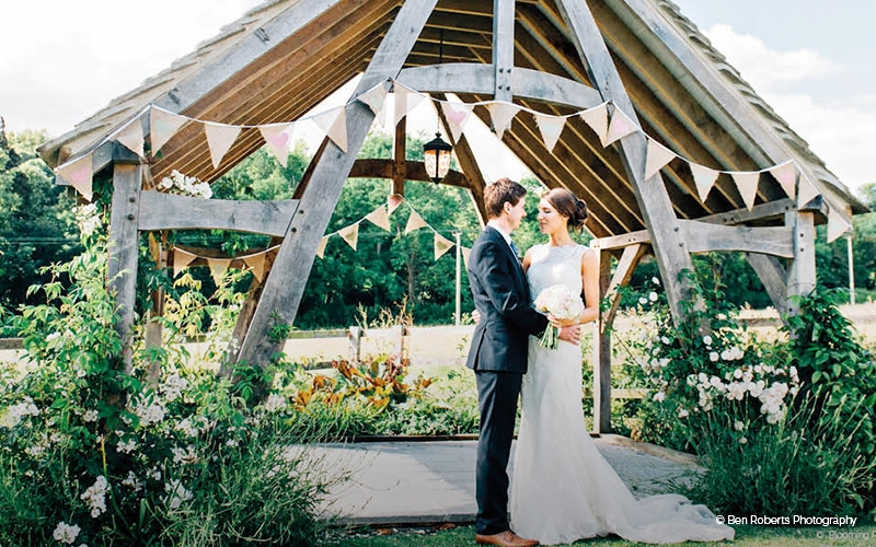 The Delightful Wooden Arbour At Hyde Barn