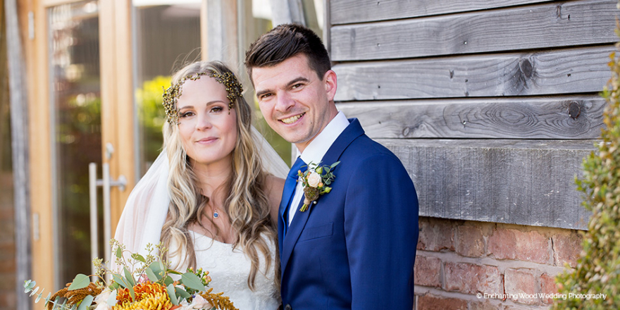 Real Wedding - Rochelle and Joshua's Bohemian Autumn Wedding at Mythe Barn | CHWV