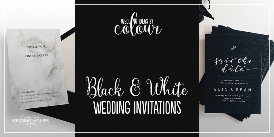 Wedding Ideas By Colour: Black and White Wedding Invitations | CHWV